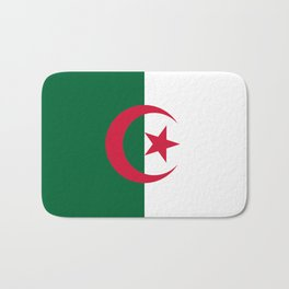 National flag of Algeria - Authentic version (color and scale) Bath Mat