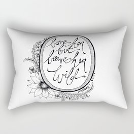 Leave her Wild Rectangular Pillow