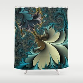 Birds of a Feather Fractal Shower Curtain