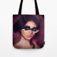 raven Tote Bags featuring Raven by SannArt