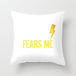 The Storm Fears Me Storm Chasers Throw Pillow