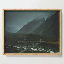 Hiking around the Mountains & Valleys of New Zealand Serving Tray