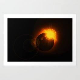 Total  Eclipse Astro Photography Art Print