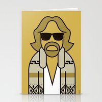 the dude Stationery Cards featuring Dude by Ale Giorgini