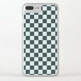 Checkerboard Pattern Inspired By Night Watch PPG1145-7 & Cave Pearl PPG1145-3 Clear iPhone Case