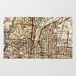 Vintage Map of Raleigh North Carolina (1940) Rug