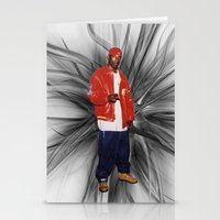 2pac Stationery Cards featuring Big L  by Gold Blood