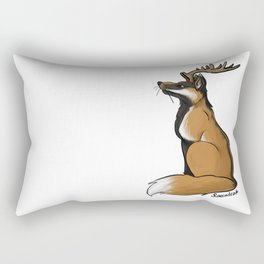 Antlered Fox Rectangular Pillow