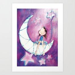 Lune Art Print