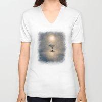 shining V-neck T-shirts featuring shining by Viviana Gonzalez