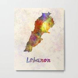 Lebanon  in watercolor Metal Print