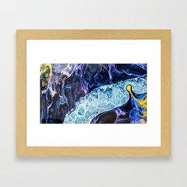 Running river Framed Art Print