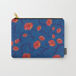 Abstract Rainbow Roses Carry-All Pouch