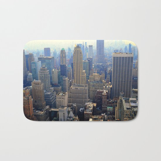 new York skyscraper view Bath Mat