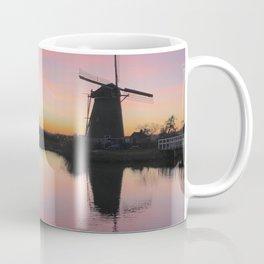 Sunset at Kinderdijk in Holland Coffee Mug