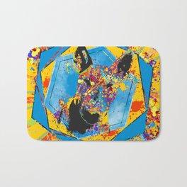 Bull Terrier  - Bully Abstract Mixed Media Bath Mat