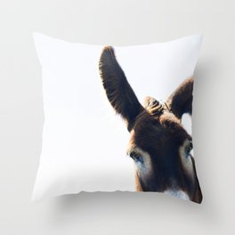 Two Ears One Mouth Throw Pillow