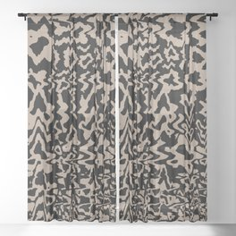 Keyhole Screen Waves (Portrait) Sheer Curtain