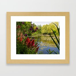 Summer Water Garden Framed Art Print
