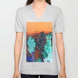DESERT NIGHT Alpinia Purpurata Unisex V-Neck
