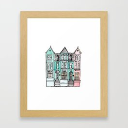 DC Row House No. 2 II U Street Framed Art Print