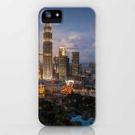 Petronas Towers By Night iPhone Case