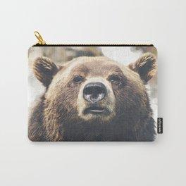 Geometric Bear Carry-All Pouch