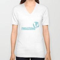 haikyuu V-neck T-shirts featuring Iwaizumi by Lena Lang
