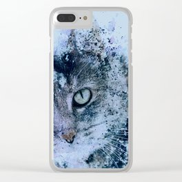 Miss Kitty Unleashed! Clear iPhone Case