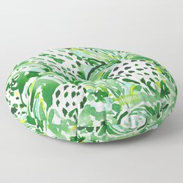 TROPICAL SITCH Green Pineapple Watercolor Floor Pillow