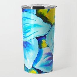 Blue Poppies 3 Travel Mug
