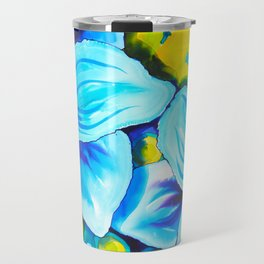 Blue Poppies 3 Travel Mug