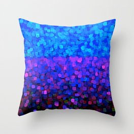 Sparkles Glitter Blue Throw Pillow
