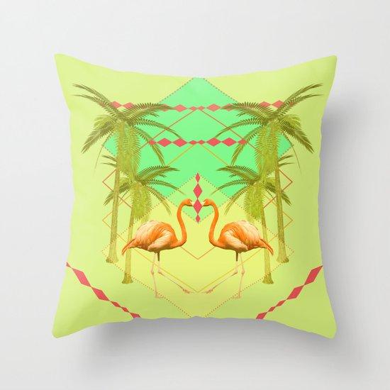 go flamingo, go ! Throw Pillow