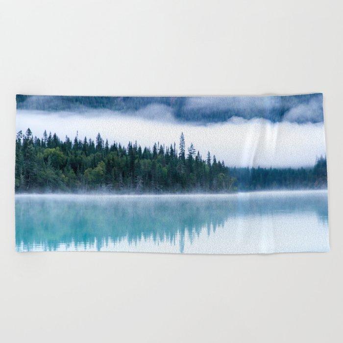 Blue nature #reflection Beach Towel