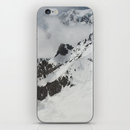 Clouds Shrouding Mont Blanc iPhone Skin