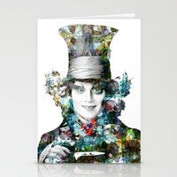mad hatter Stationery Cards featuring Mad Hatter by NKlein Design