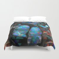 camo Duvet Covers featuring Isometric Camo by Robin Curtiss
