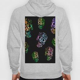 Colorful skull-Black Hoody