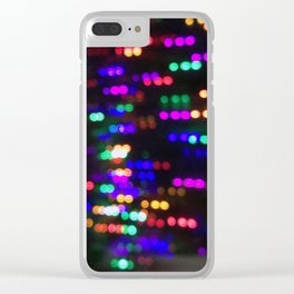 Night Lights in December no.1 Clear iPhone Case