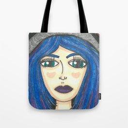 Fur Hooded Girl Tote Bag