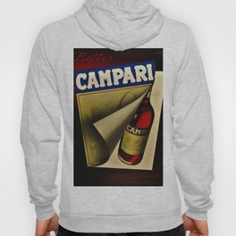 1957 Vintage Bitter Campari Aperitif Advertisement Poster by Carlo Fisanotti Hoody