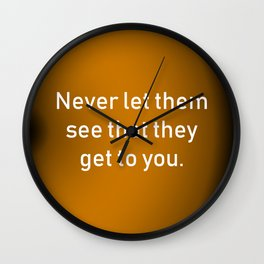 Never Let Them See Wall Clock