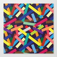 confetti Canvas Prints featuring Confetti by Joe Van Wetering