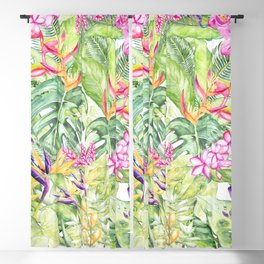 Tropical Garden 1A #society6 Blackout Curtain