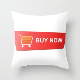 Buy Now Red Throw Pillow