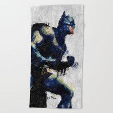 Bat man Beach Towel
