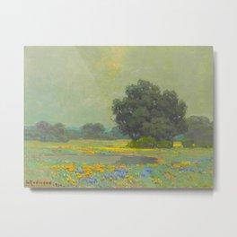 Granville Redmond (1871-1935) Landscape Flower Field Metal Print