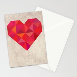 Heart geometry Stationery Cards