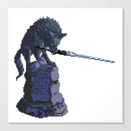 Sif the Great Grey Wolf from Dark Souls Canvas Print